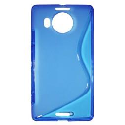 Microsoft Lumia 950 XL - Gumiran ovitek (TPU) - modro-prosojen SLine