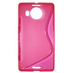 Microsoft Lumia 950 XL - Gumiran ovitek (TPU) - roza-prosojen SLine