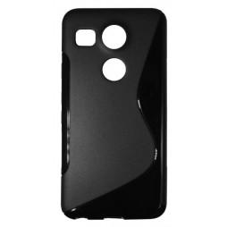 LG Nexus 5X - Gumiran ovitek (TPU) - črn SLine