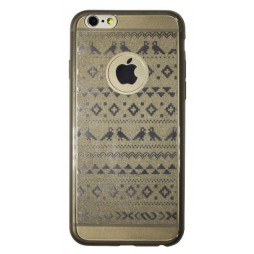 Apple iPhone 6/6S - Gumiran ovitek (21vzorec) - siv