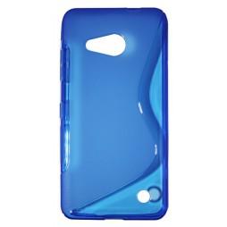 Microsoft Lumia 550 - Gumiran ovitek (TPU) - modro-prosojen SLine