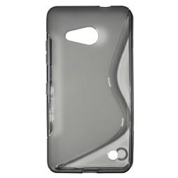 Microsoft Lumia 550 - Gumiran ovitek (TPU) - sivo-prosojen SLine