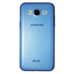 Samsung Galaxy J5 - Gumiran ovitek (TPUA) - modro-prosojen