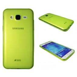 Samsung Galaxy J5 - Gumiran ovitek (TPUA) - zeleno-prosojen