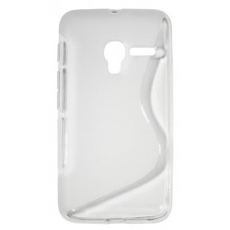 Alcatel Pixi 3 4.0 - Gumiran ovitek (TPU) - belo-prosojen SLine