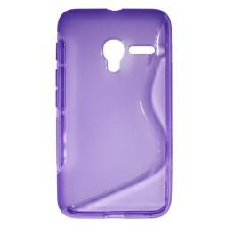 Alcatel Pixi 3 4.0 - Gumiran ovitek (TPU) - vijolično-prosojen SLine
