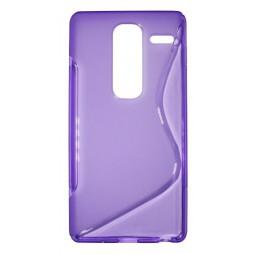 LG Zero - Gumiran ovitek (TPU) - vijolično-prosojen SLine