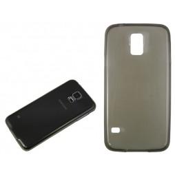 Samsung Galaxy S5/S5 Neo - Gumiran ovitek (TPUA) - sivo-prosojen