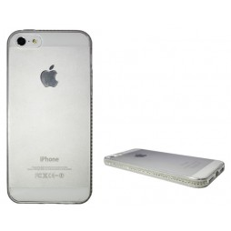 Apple iPhone 5/5S/SE - Gumiran ovitek (TPUD) - rob bel
