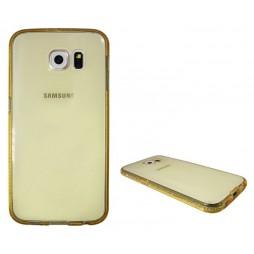 Samsung Galaxy S6 - Gumiran ovitek (TPUD) - rob oranžen