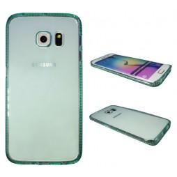 Samsung Galaxy S6 Edge - Gumiran ovitek (TPUD) - rob zelen