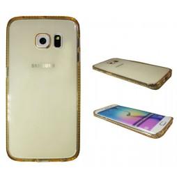Samsung Galaxy S6 Edge - Gumiran ovitek (TPUD) - rob oranžen