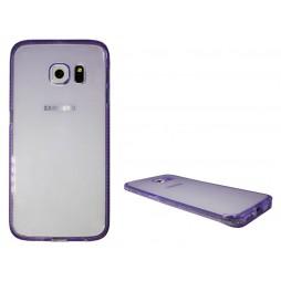 Samsung Galaxy S6 Edge - Gumiran ovitek (TPUD) - rob vijoličen