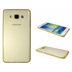 Samsung Galaxy A5 - Gumiran ovitek (TPUD) - rob oranžen