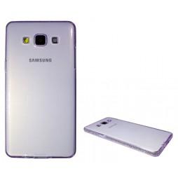 Samsung Galaxy A5 - Gumiran ovitek (TPUD) - rob vijoličen