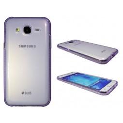 Samsung Galaxy J5 - Gumiran ovitek (TPUD) - rob vijoličen