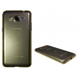 Samsung Galaxy Grand Prime - Gumiran ovitek (TPUD) - rob oranžen