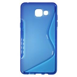 Samsung Galaxy A5 (2016) - Gumiran ovitek (TPU) - modro-prosojen SLine