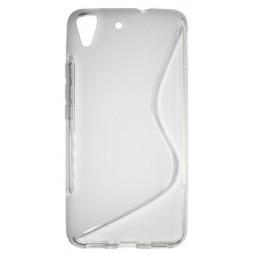 Huawei Y6 - Gumiran ovitek (TPU) - belo-prosojen SLine