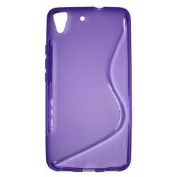Huawei Y6 - Gumiran ovitek (TPU) - vijolično-prosojen SLine