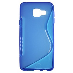 Samsung Galaxy A3 (2016) - Gumiran ovitek (TPU) - modro-prosojen SLine