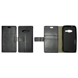 Samsung Galaxy Trend 2 Lite/Trend 2/S Duos 3 - Preklopna torbica (WLG) - črna
