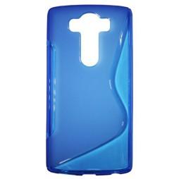 LG V10 - Gumiran ovitek (TPU) - modro-prosojen SLine