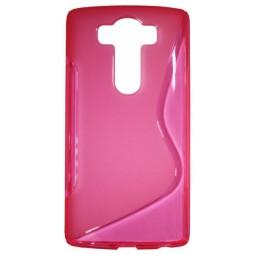 LG V10 - Gumiran ovitek (TPU) - roza-prosojen SLine