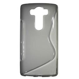 LG V10 - Gumiran ovitek (TPU) - sivo-prosojen SLine