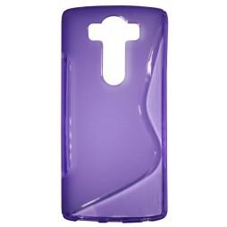 LG V10 - Gumiran ovitek (TPU) - vijolično-prosojen SLine