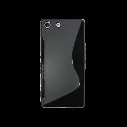 Sony Xperia M5 - Gumiran ovitek (TPU) - črn SLine