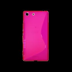 Sony Xperia M5 - Gumiran ovitek (TPU) - roza-prosojen SLine