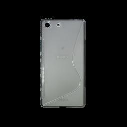 Sony Xperia M5 - Gumiran ovitek (TPU) - sivo-prosojen SLine