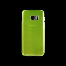 Samsung Galaxy S7 - Gumiran ovitek (TPUA) - zeleno-prosojen