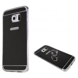 Samsung Galaxy S6 Edge - Gumiran ovitek (TPUE) - ogledalo črno