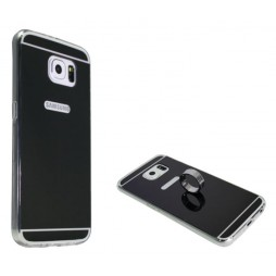 Samsung Galaxy S6 - Gumiran ovitek (TPUE) - ogledalo črno