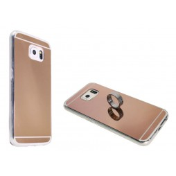 Samsung Galaxy S6 - Gumiran ovitek (TPUE) - ogledalo roza