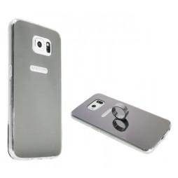 Samsung Galaxy S6 - Gumiran ovitek (TPUE) - ogledalo srebrno
