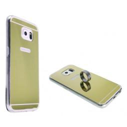 Samsung Galaxy S6 - Gumiran ovitek (TPUE) - ogledalo zlato