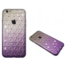 Apple iPhone 6/6S - Gumiran ovitek (TPUD) - 3D vijoličen