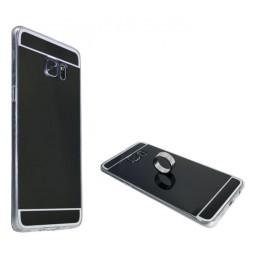 Samsung Galaxy S6 Edge Plus - Gumiran ovitek (TPUE) - ogledalo črno