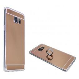 Samsung Galaxy S6 Edge Plus - Gumiran ovitek (TPUE) - ogledalo roza