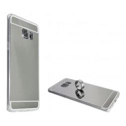 Samsung Galaxy S6 Edge Plus - Gumiran ovitek (TPUE) - ogledalo srebrno
