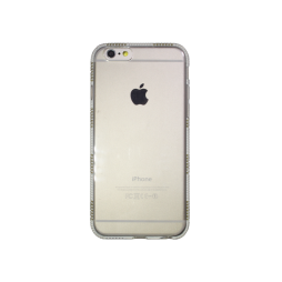 Apple iPhone 6/6S - Gumiran ovitek (TPUD) - rob1 bel