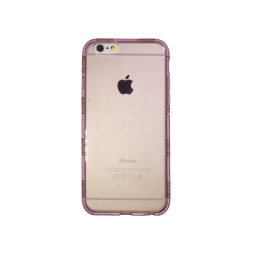 Apple iPhone 6/6S - Gumiran ovitek (TPUD) - rob1 roza