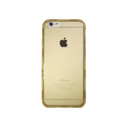 Apple iPhone 6/6S - Gumiran ovitek (TPUD) - rob1 zlat