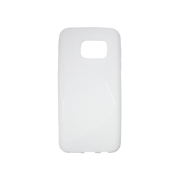 Samsung Galaxy S7 - Gumiran ovitek (TPU) - bel SLine
