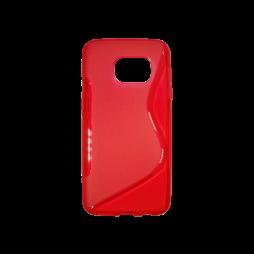Samsung Galaxy S7 - Gumiran ovitek (TPU) - rdeče-prosojen SLine