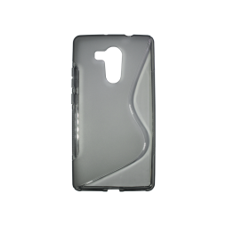 Huawei Mate 8 - Gumiran ovitek (TPU) - sivo-prosojen SLine