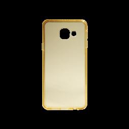 Samsung Galaxy A3 (2016) - Gumiran ovitek (TPUD) - rob oranžen